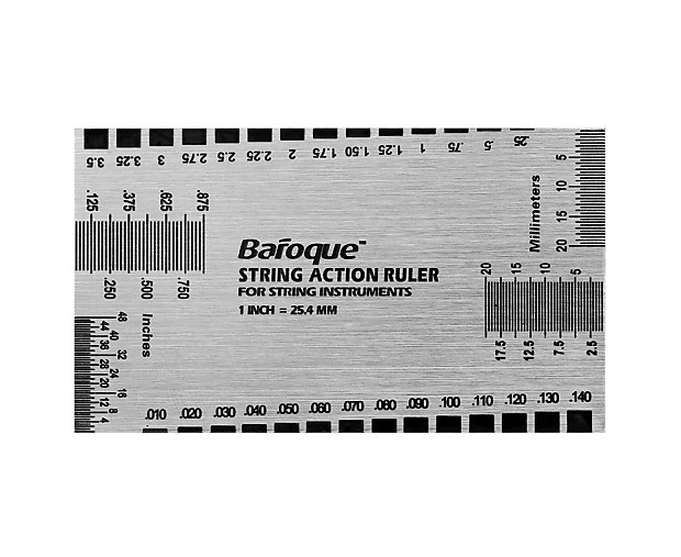 baroque string action ruler instructions