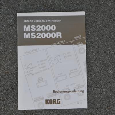 Korg Manual for MS2000 & MS2000R German 2000