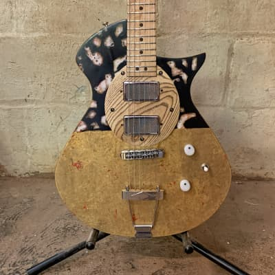 Malinoski Gypsy #408 Brand New Hollowbody Luthier Built Handwound Gold Foil Gold Leaf for sale