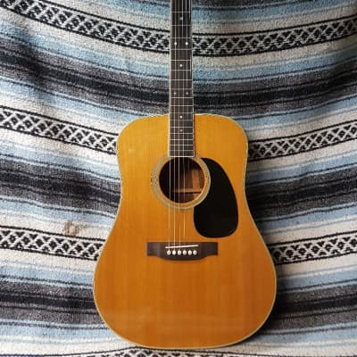 Made in Japan Cat's Eyes CE 1300 CF 1982 Natural - Superb D-35 Style Dreadnought for sale