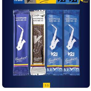 Vandoren SAXMIXA35 Alto Saxophone Mix Card Reed Variety Pack - Strength 3.5