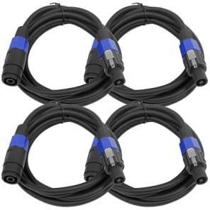Seismic Audio SPXC-10-4PACK Speakon Male to Speakon Female Speaker Extension Cables - 10' (4-Pack)