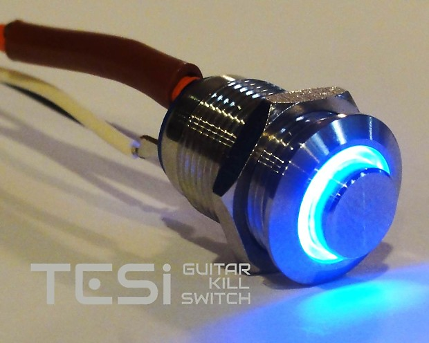 tesi poco 12mm led momentary guitar killswitch stainless reverb. Black Bedroom Furniture Sets. Home Design Ideas