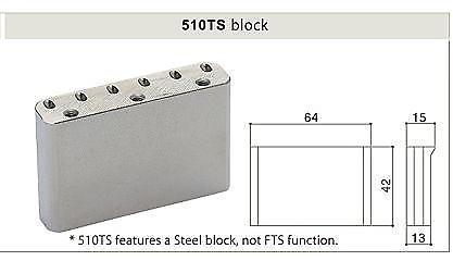 CHROME NEW Gotoh EV510T-BS Non-locking 2 Point Tremolo Bridge w// Hardware