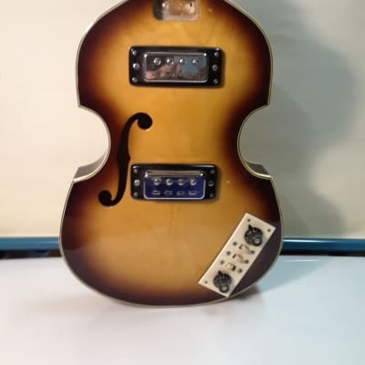 Kimberly Bass Guitar Body With Pickups An Electronics 1960s Burst for sale