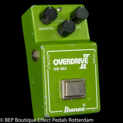 "Ibanez OD-855 Overdrive II 1981 s/n 111987 Japan with RC4558P Malaysia op amp, ""R"" Logo"