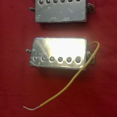 Stewart MacDonald humbucker set Chrome Les Paul Goldentone for sale