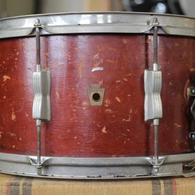 """WFL No. 472 Contest Model 8x15"""" 8-Lug Snare Drum 1948 - 1959"""