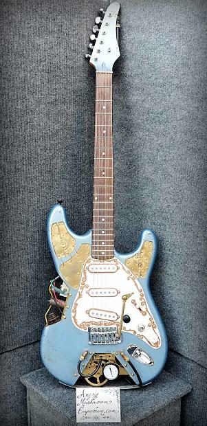 Unique Auto Import >> Steampunk Electric Guitar Light Blue | Reverb