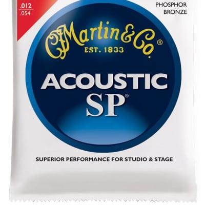 Martin SP Phosphor Bronze Acoustic Guitar Strings, Light (12 - 54) - Set of 4