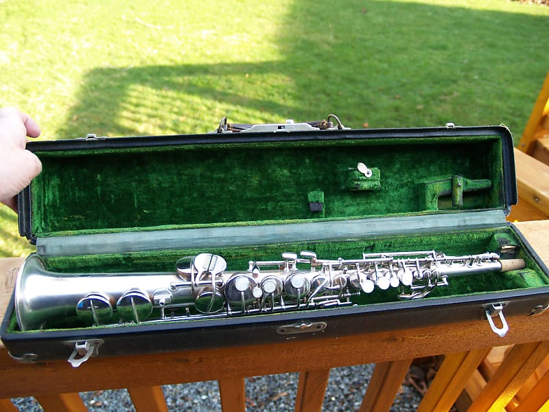 Conn Soprano Sax, Saxophone, Key of C, Great Condition 1923, Silver Plated