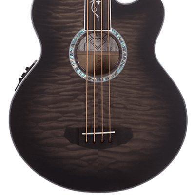 Michael Kelly Dragonfly Fretless 4-String Acoustic-Electric Bass, Quilt Maple Body, 34