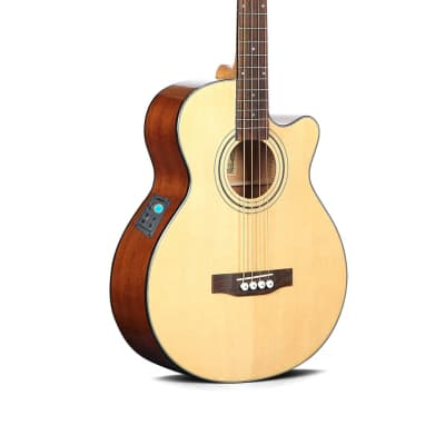 Acoustic Electric Bass Guitar built in tuner 4 string PBA2874 for sale