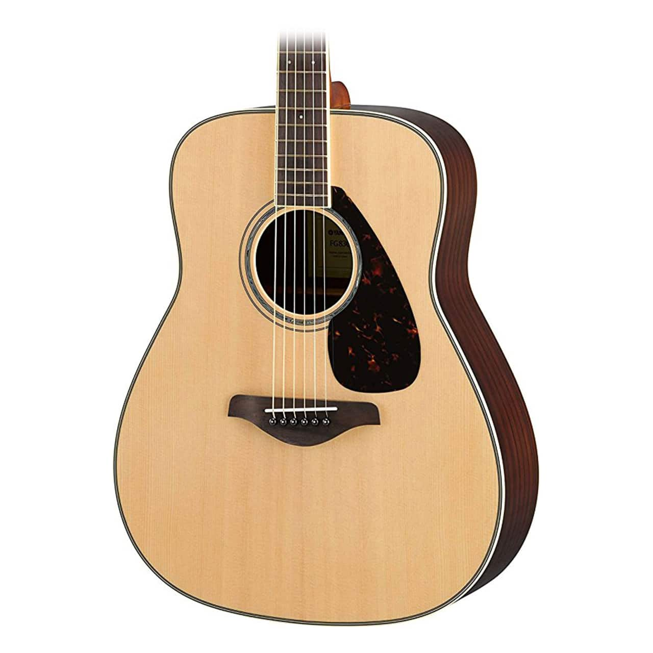 Yamaha fg830 solid top acoustic guitar natural reverb for Yamaha solid top