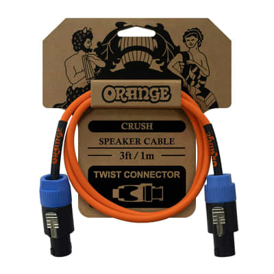 Orange Amplification Crush Speaker Cable, Speakon Twist Connectors, 3ft