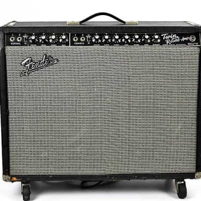 '67 Fender Twin Reverb 85-Watt Vintage Blackface Guitar Combo Amp 1967