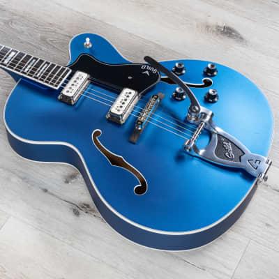 Guild X-175 Manhattan Special Hollow Body Guitar, Ebony Fretboard, Malibu Blue