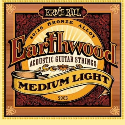 Ernie Ball Earthwood Acoustic Strings - Med Light