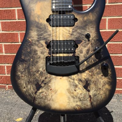 Ernie Ball Music Man Jason Richardson Cutlass  Natural Buckeye Burl Black Burst 7-String w/Case for sale