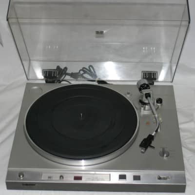 SONY PS-X20 Direct Drive Stereo Turntable Record Player 2-Speed Silver ADC Cartridge - Working VG