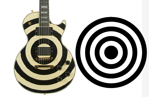 Zakk Wylde style bulleyes sticker kit for guitar building, black, silver,  red, white vinyl options
