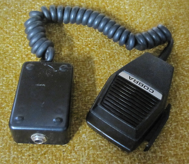 Circuit Bent Modified Vintage Cobra CB Microphone Lo-Fi Mic
