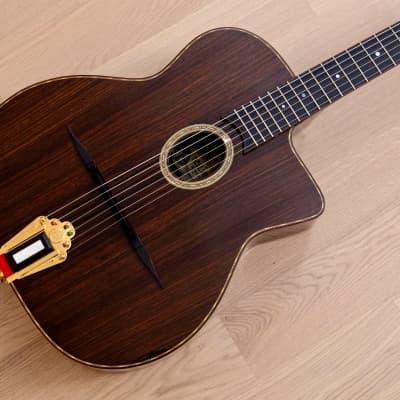 Dell'Arte John Kinnard Acoustic Electric Gypsy Jazz Guitar Rosewood USA, w/ Case for sale
