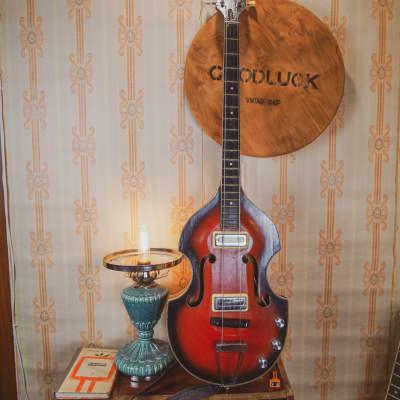 Orfeus Orpheus Violin Bass Guitar Soviet Ussr Vintage Semi Hollow Es for sale