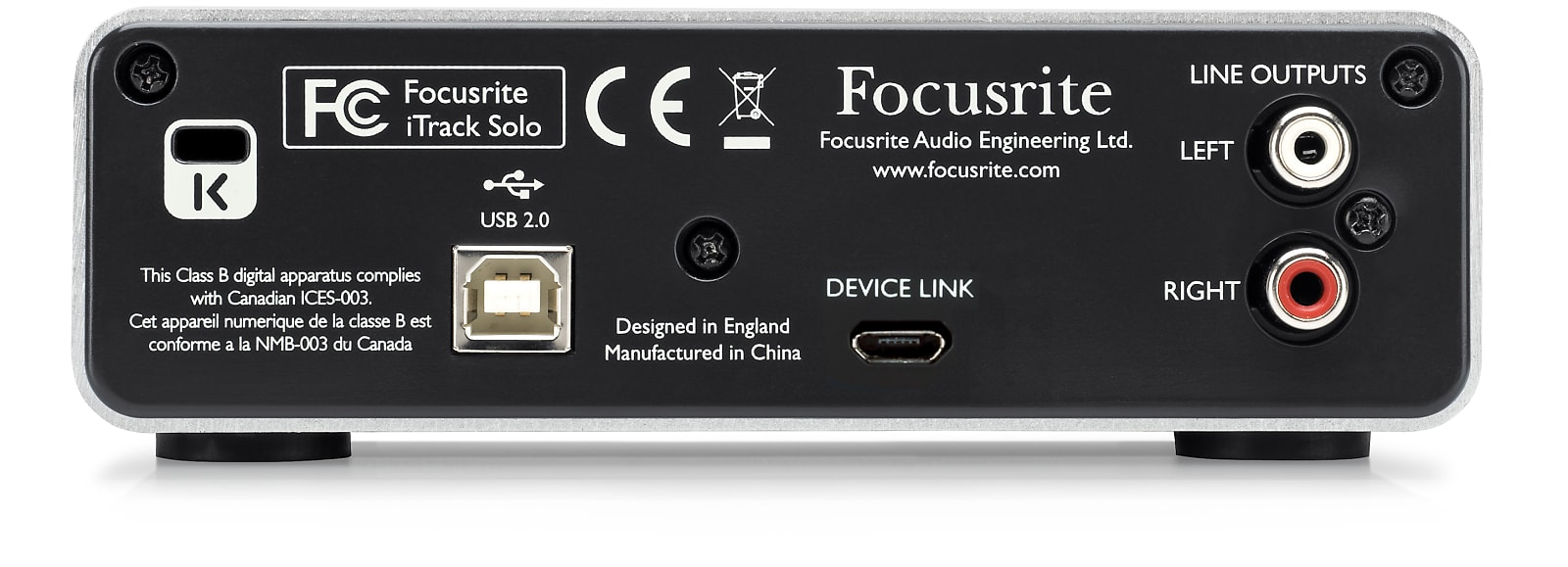 Focusrite iTrack Solo Lightning USB / iPad Audio Recording Interface