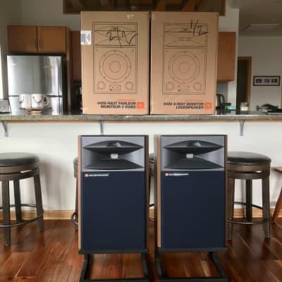 JBL 4429 Loudspeakers w/Deer Creek Audio Custom Stands (MIDWEST)
