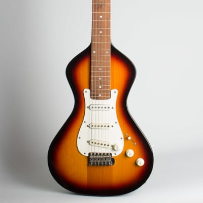 Asher  Custom Slidecaster S Lap Steel Electric Guitar (2007), ser. #334, original alligator grain hard shell case. for sale