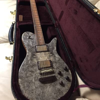 Fodera burl with throbak pick ups brazilian rosewood 2018 gray burl for sale