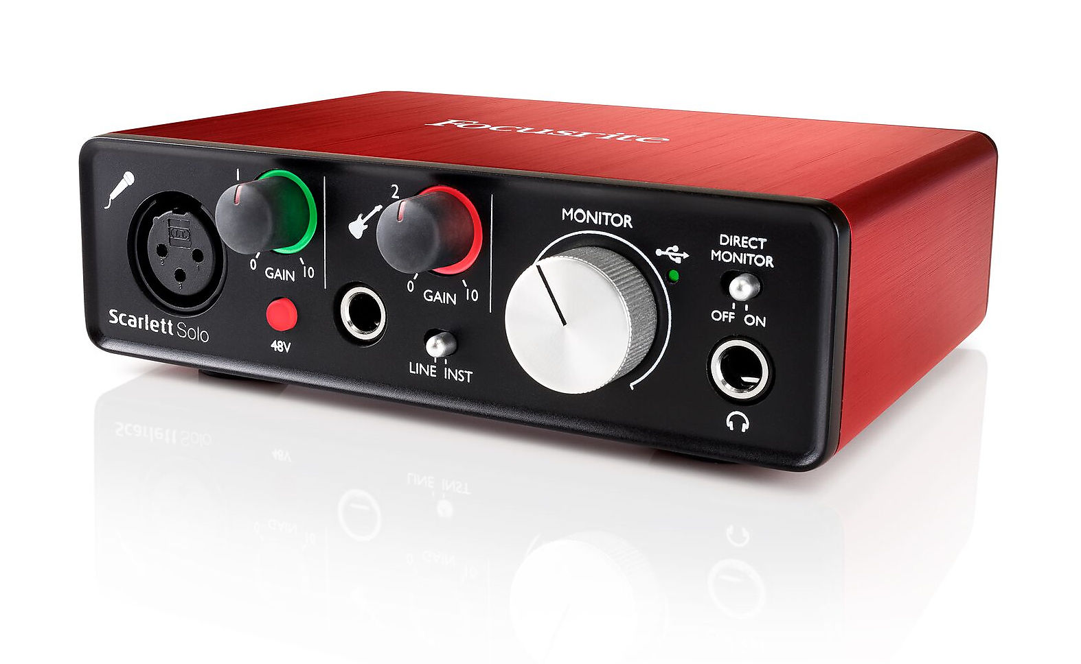 Focusrite Scarlett Solo 2nd Gen 2I/2O USB Audio Interface