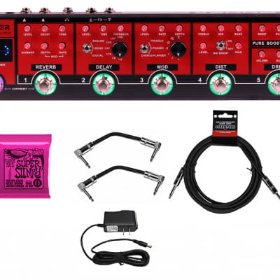 Mooer Red Truck -  Combined Effects Pedals with Ac Adapter and Extras image