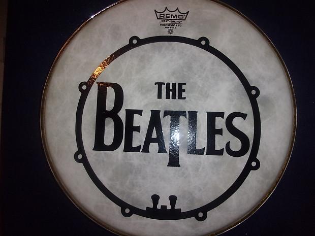 the beatles with bass drum design band logo black design on reverb. Black Bedroom Furniture Sets. Home Design Ideas