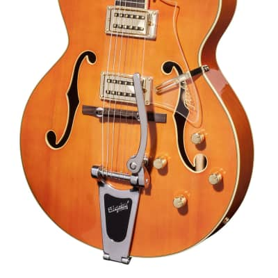 Full-Resonance Archtop Jazz Guitar - TONEMASTER PLAYER Orange + hardcase for sale