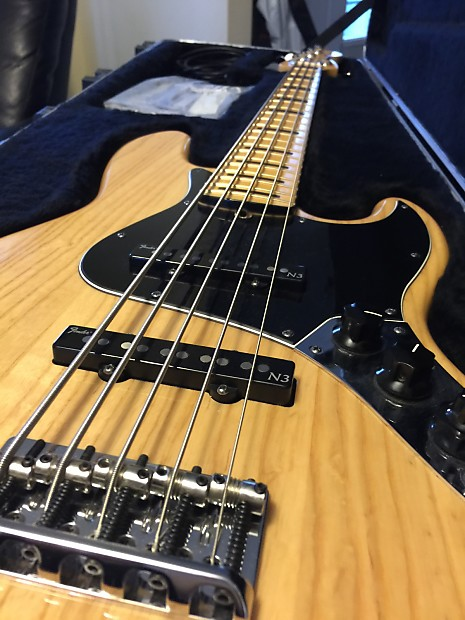 fender american deluxe jazz bass five string 2011 natural reverb. Black Bedroom Furniture Sets. Home Design Ideas