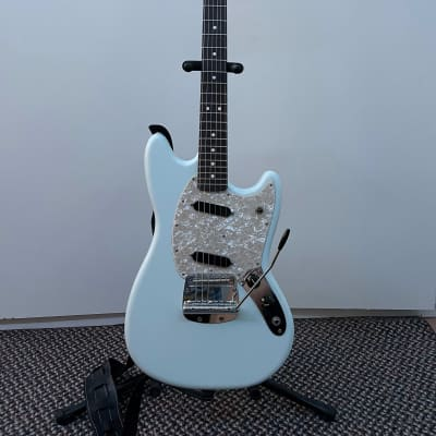 Fender American Performer Mustang with Rosewood Fretboard 2018 - 2021 Satin Sonic Blue Case Included