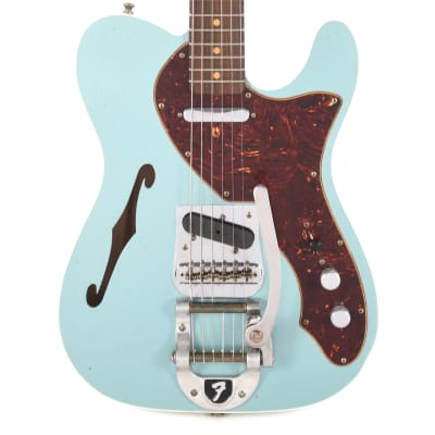 Fender Custom Shop Limited Edition '60s Telecaster Thinline Custom Journeyman Teal Green Metallic (Serial #CZ541730) for sale