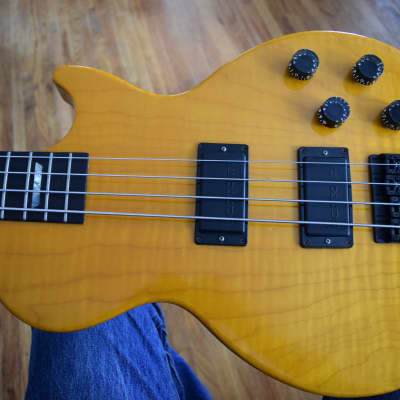 Gibson Les Paul Deluxe Plus Bass ,  LPB-2 ,  Hard case , Figured maple top, Great specimen for sale