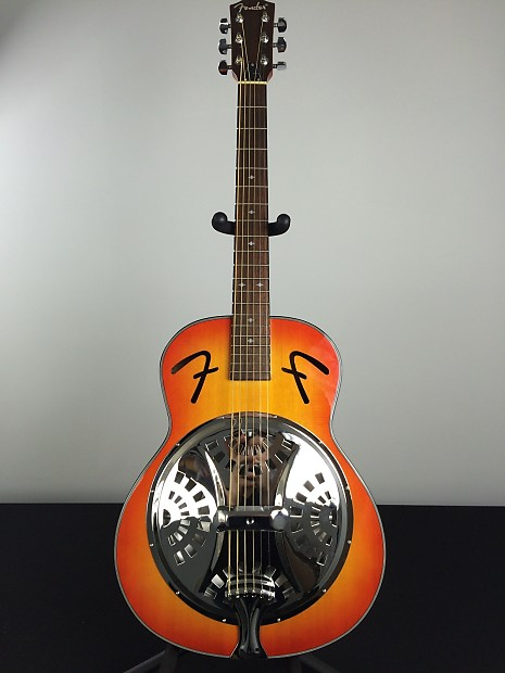 fender fr 50 resonator acoustic guitar sunburst reverb. Black Bedroom Furniture Sets. Home Design Ideas