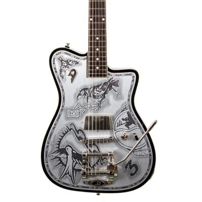 Duesenberg Johnny Depp Signature Series Electric Guitar Aluminum Tattooed for sale