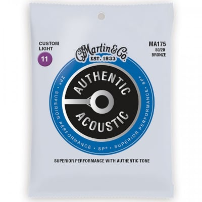 Martin MA175 Authentic Acoustic Strings 80/20 Bronze 11-52