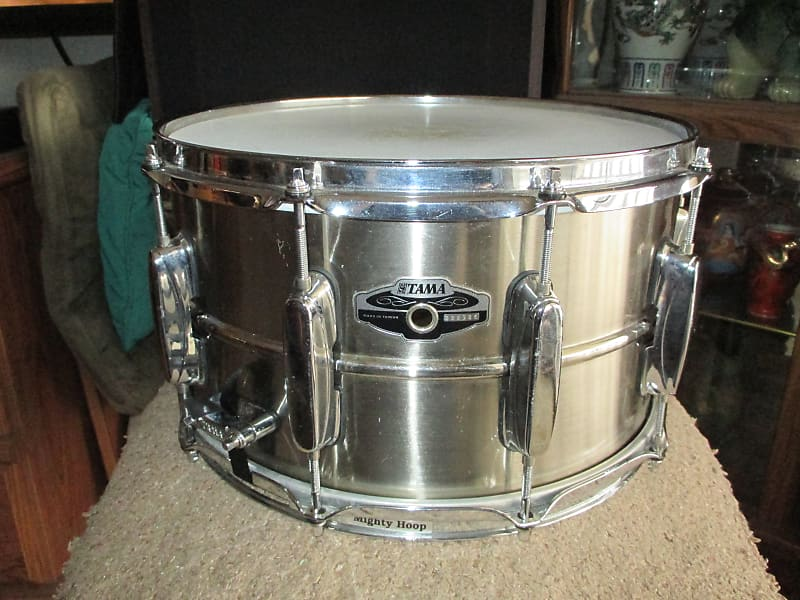 rare 90 39 s tama 8x14 brass snare drum awesome reverb. Black Bedroom Furniture Sets. Home Design Ideas