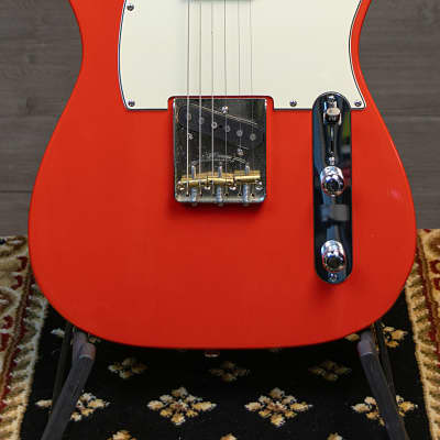 Fred Stuart Custom Telecaster Fiesta Red Nitrocelluose w/Case for sale