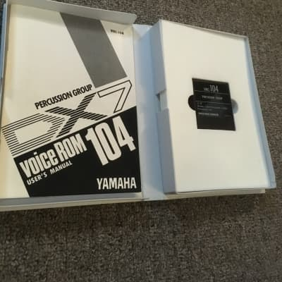 yamaha  DX   VRC-104  percussion group   data cartridge  (Dx5 Dx1 Dx7)