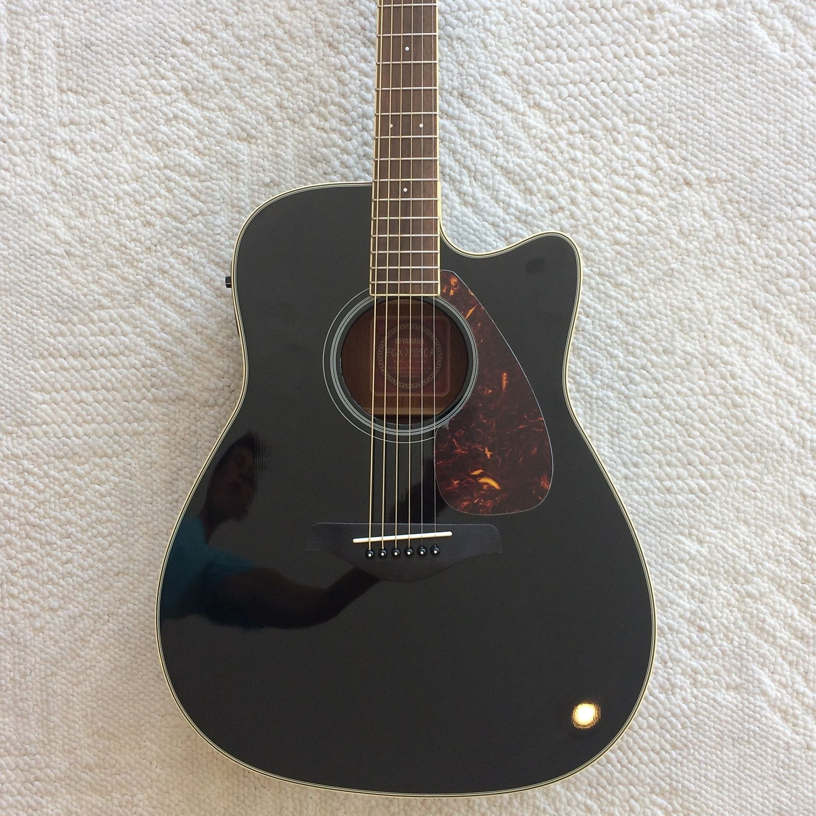 Yamaha fgx720sca folk acoustic electric guitar black reverb for Yamaha fgx720sca price