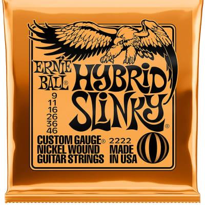 Ernie Ball Slinky Series Nickel Wound Electric Guitar Strings - Hybrid Slinky 09-46 (2222EB)