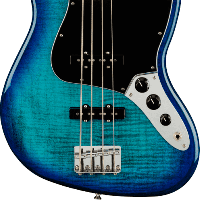 FENDER Player Jazz Bass® Plus Top, Maple Fingerboard, Blue Burst for sale