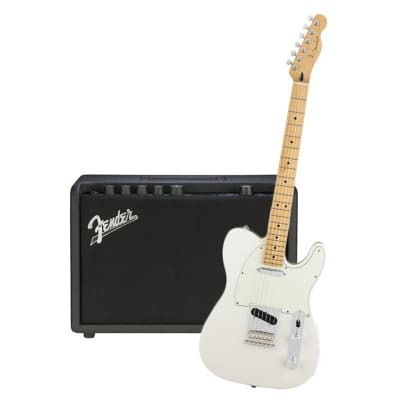 Fender Player Telecaster Polar White Maple Neck & Fender Mustang GT 40 Bundle for sale